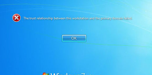 the trust relationship between this workstation and primary domain failed cause