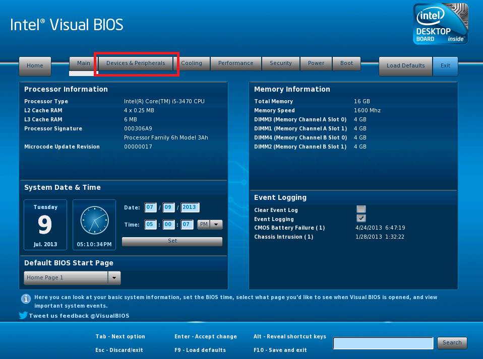 How to change the Serial ATA (SATA) Controller Mode using the Intel