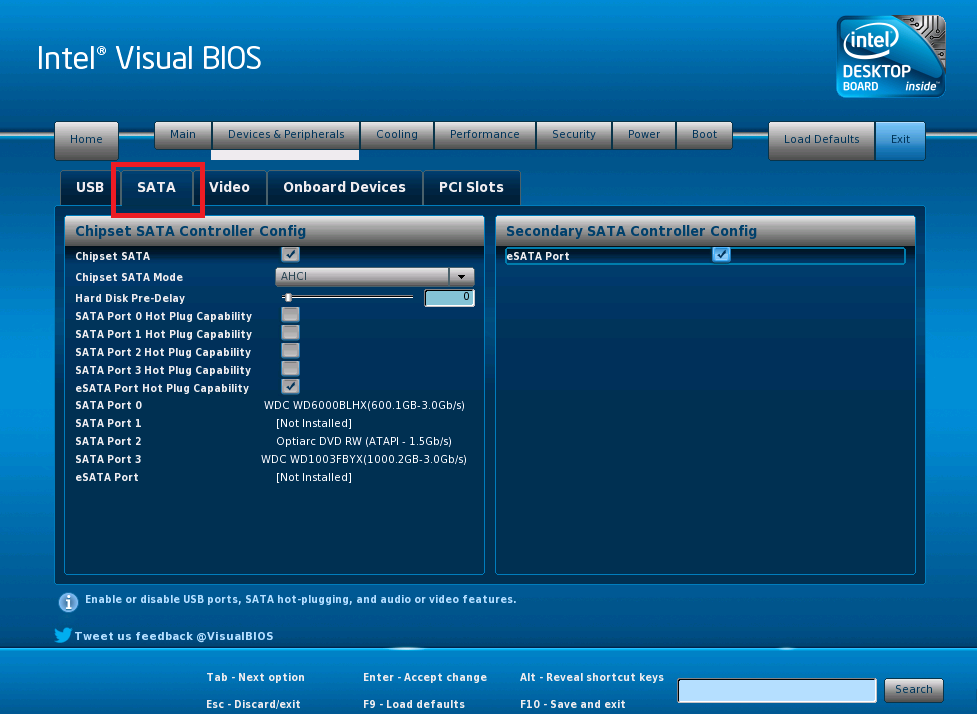 How to change the Serial ATA (SATA) Controller Mode using