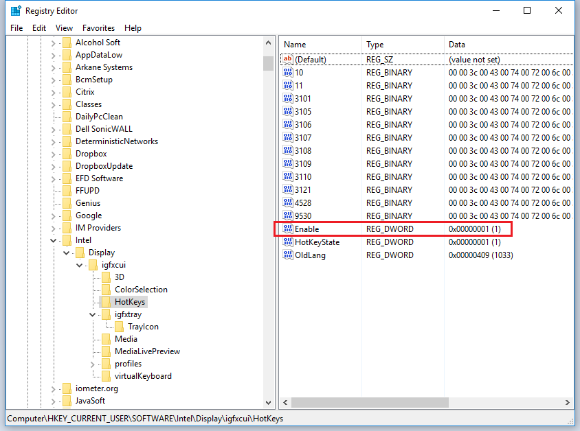 Removing the Intel Graphics Tray Icon and Hotkey Program as