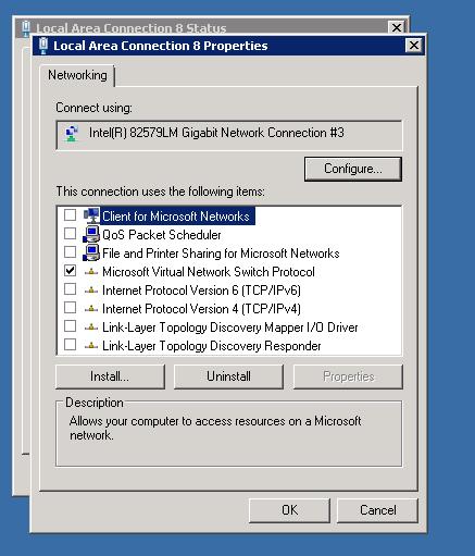Incorrect Hyper-V Virtual LAN Configuration causes Network