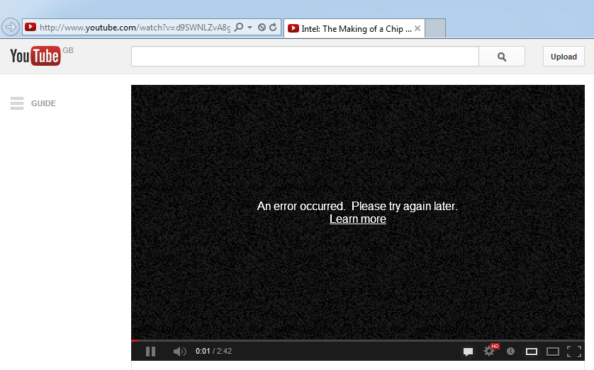 Streamed Hd Video Content Fails To Play Youtube Vimeo