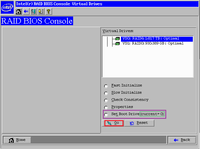 Intel or LSI Hardware RAID Controller - System Not Booting from a