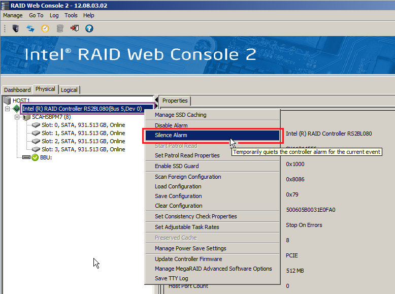 My Intel RAID system is Beeping  What Should I Do? - Stone