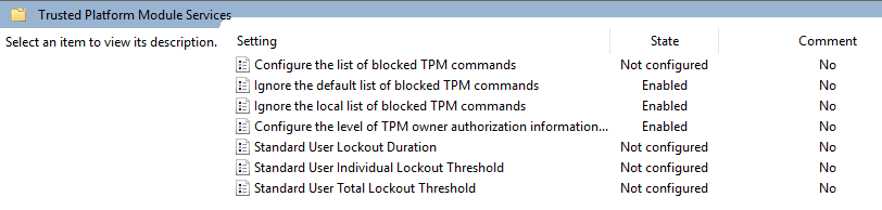 How can I Clear a TPM module or Recover from Authorisation Lockout