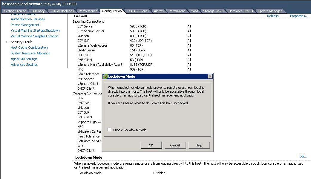 Should I enable Lockdown Mode on my VMWare ESXi Hosts